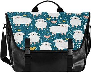 Alpaca Love Cartoon Cute Hombres y Mujeres Lona Satchel, Mujer Retro Single Shoulder Bag School Satchel, Adecuado para iPa...