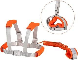 Toddler Safety Leash & Harness   Kids & Child Safety Backpack Leash 2in1 Upgraded Leash (Orange, 2.5 M)