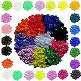 Bottoni a pressione T5, 600 pezzi, +15 colori), in plastica, rotondi, colorati, bottoni a pressione, per artigianato e merceria