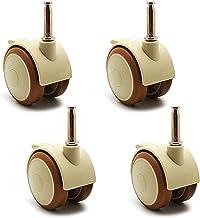 4 stks Meubelwielen Wielen Plastic Swivel Wielen Meubel Caster Wiel, 1.9 inch 47mm Swivel Castor, voor stoel, stammaat 6.5...