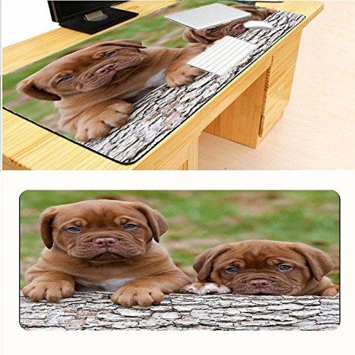HONGHUAHUI twee honden zwarte rasterrand bedrukken rubber muismat mooie mat muismat 400x900X3MM A01.