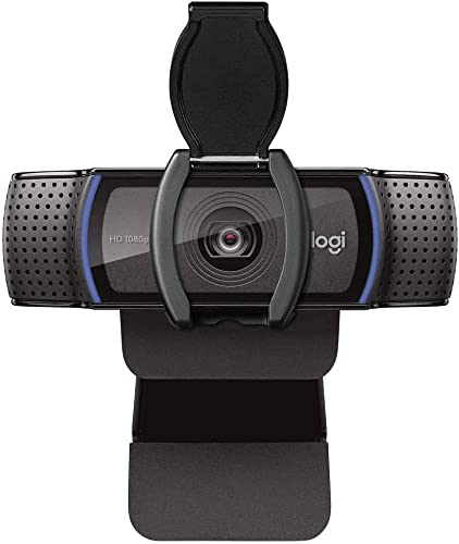 popular Logitech Webcam C920S HD Pro with online Privacy Shutter - 1080p Streaming Widescreen lowest Video Camera - Built in Microphone for Recording online