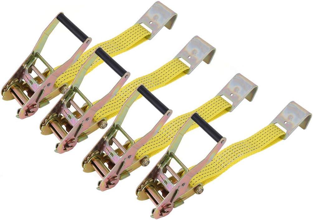 Micozy Classic Yellow 2x10 inch Lasso Max 82% OFF Ratchet Flat Wheel Ranking TOP4 Hooks W
