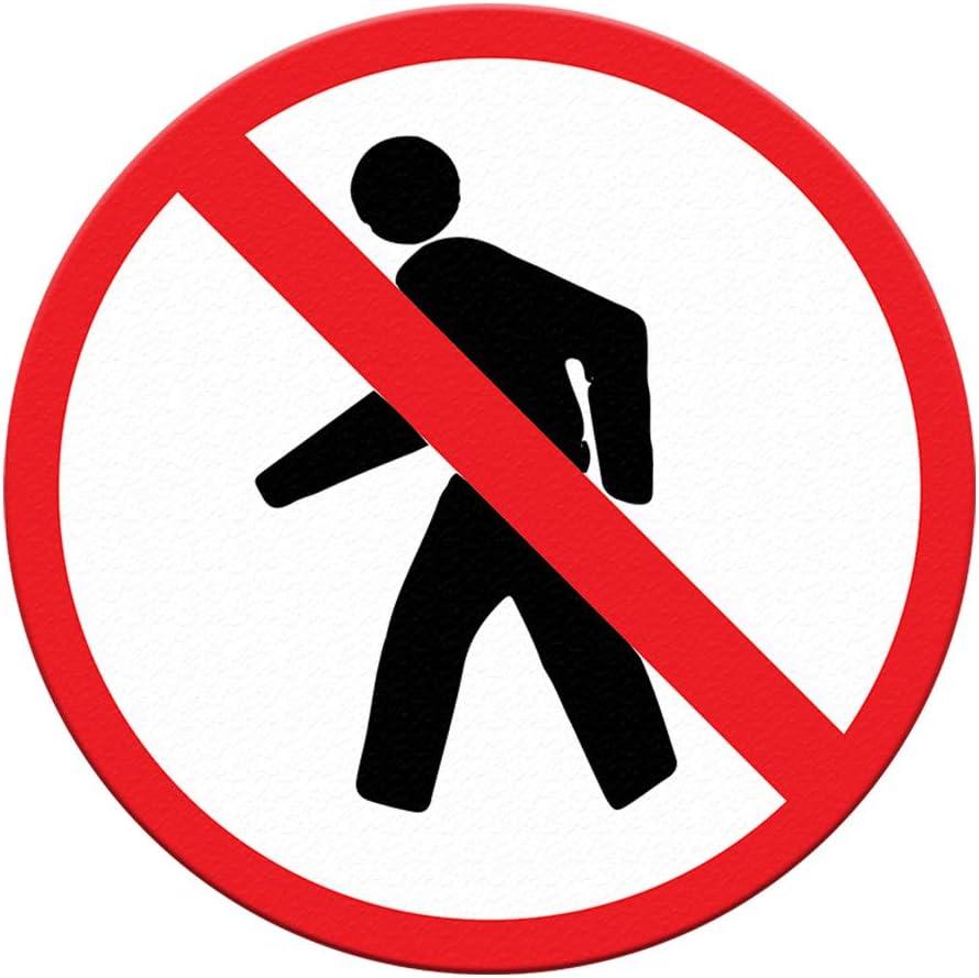 No Attention brand Pedestrian Floor Decals Peddestrian Inexpensive Round Black Red Anti-Slip
