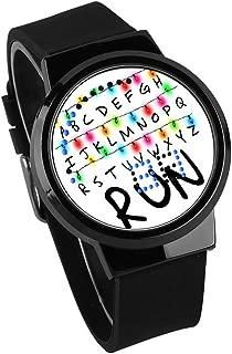 Stranger Things Reloj para niños Pantalla táctil Reloj LED Impermeable Luminoso Reloj electrónico DIY Regalo de Personalidad Creativa