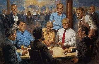 Peck & Gartner Andy Thomas The Republican Club Donald Trump S/N Giclee Art Print 30 x 20