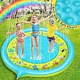 Dookey Splash Pad, Tapete Acuático, Jardín de Verano Juguete para Niños de 170 cm, Piscina de Juego ...