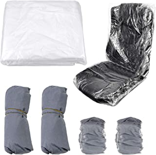 Disposable Plastic Airplane Seat Covers, Yotako Universal Clear Car Seat Protector Waterproof Chair Covers Updated Protect...
