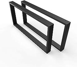 sossai® stalen tafelvoet/salontafelvoet Basic | 2 stuks | Breedte 70 cm x hoogte 40 cm - tafellopers CKK1 | Kleur: zwart (...