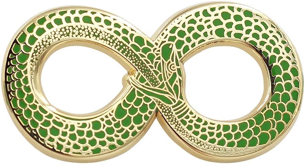 REAL SIC Ouroboros Enamel Pin - Halloween Gold List price Snake Low price Occul