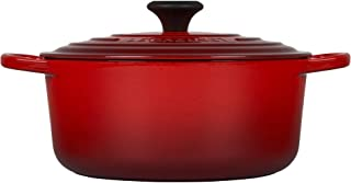 Le Creuset LS2501-2667 Signature Enameled Cast-Iron Round French (Dutch) Oven, 5-1/2-Quart, Cerise, 5.5 qt, Cherry