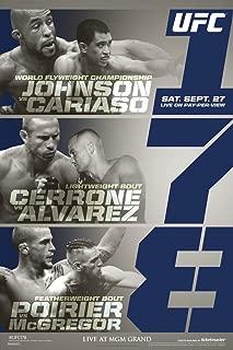 Pyramid America Official UFC 178 Demetrious Johnson vs Chris Cariaso Sports Cool Wall Decor Art Print Poster 12x18