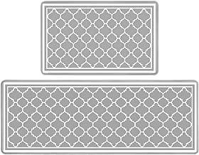 Pauwer Anti Fatigue Kitchen Rug Set 2 Piece Non Slip Cushioned Kitchen Floor Mat Waterproof Comfort Standing Kitchen Mat (...