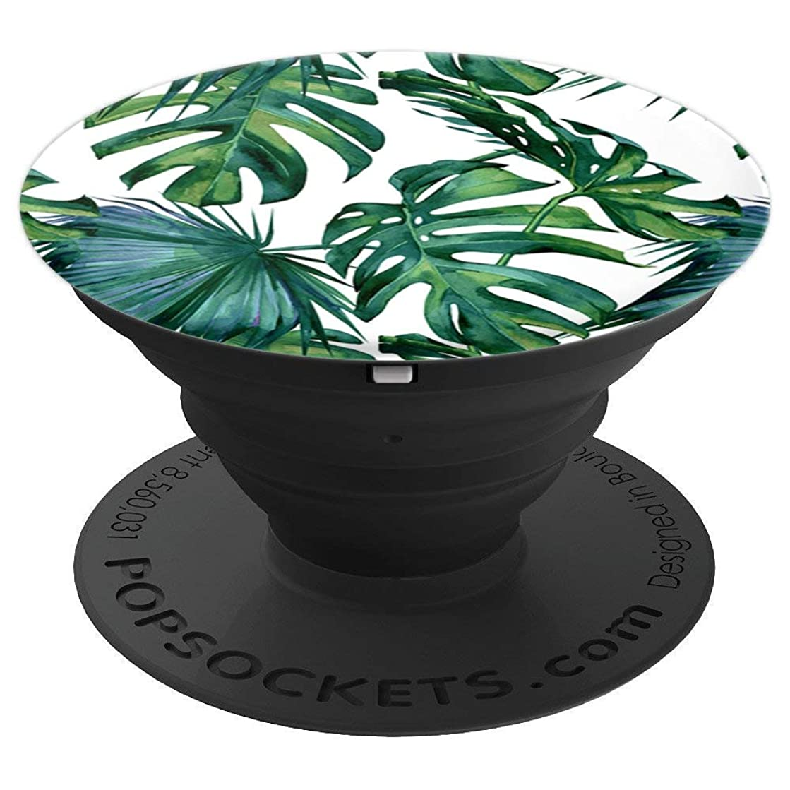 Tropical Palm Monstera Leaves Jungle Green by Nature Magick - PopSockets Grip and Stand for Phones and Tablets