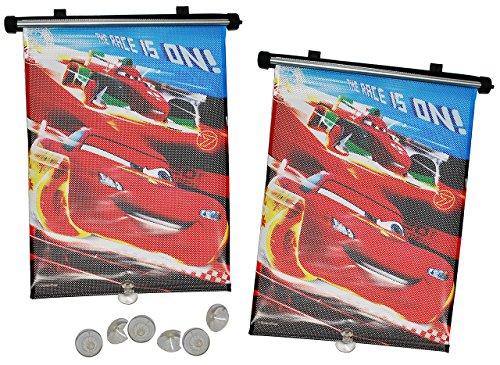 alles-meine.de GmbH 2 TLG. Set Sonnenschutz Rollo - Disney Cars - für Fenster und Auto Seitenscheibe - Sonnenblende - Jungen Kinder Baby - Sonnenrollo - Mc Queen Francesco - Roll..