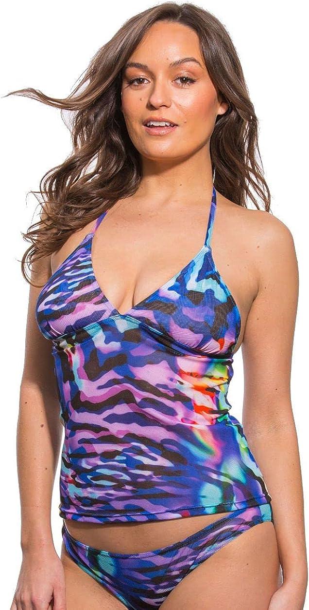 Kiniki Aurora Tan Through Beach Tankini Top Swimwear