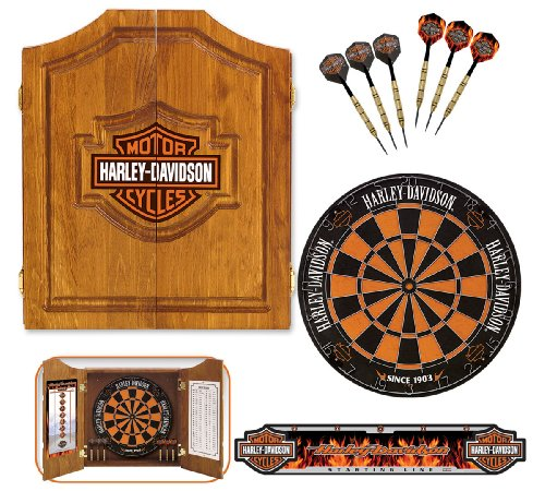 Harley-Davidson 61995 Bar and Shield Dartboard Cabinet Kit