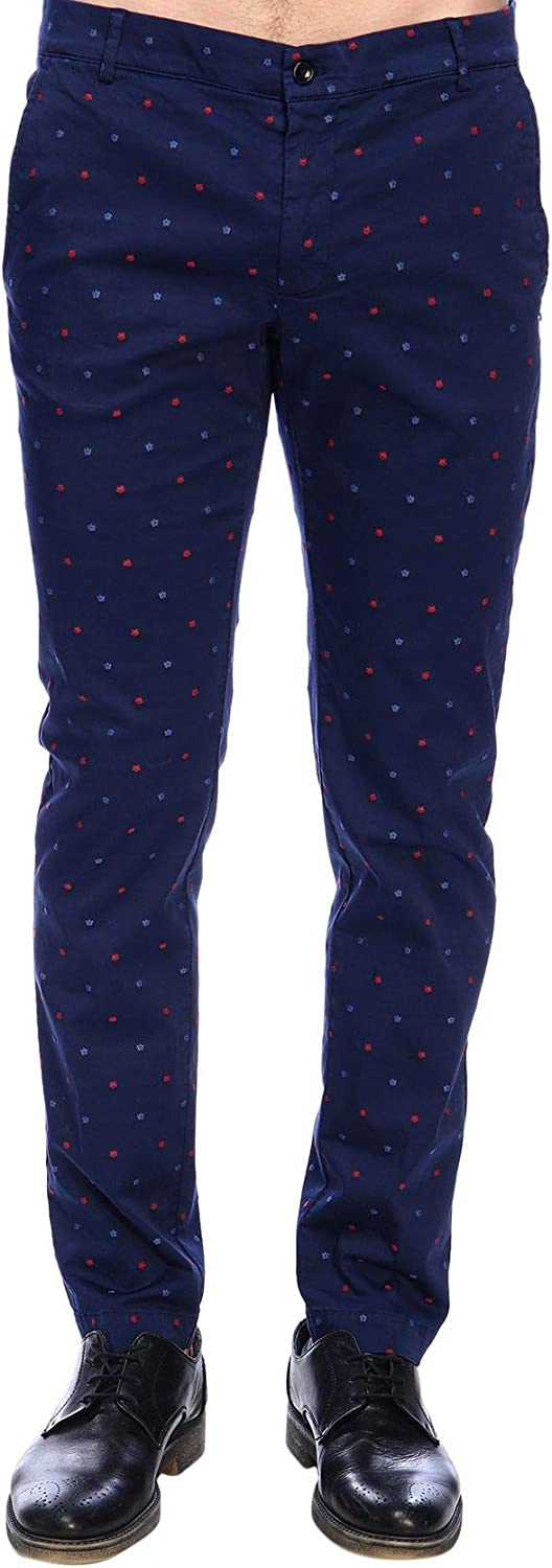 DANIELE ALESSANDRINI Men's P3322BOC3902306 blueee Cotton Pants