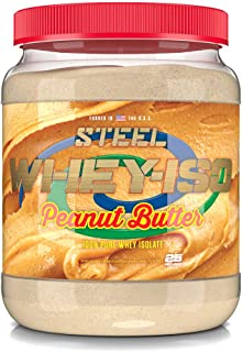 Steel Supplements Whey-ISO Whey Protein Isolate Powder Supplement Supports Lean Muscle Gains (Peanut Butter)