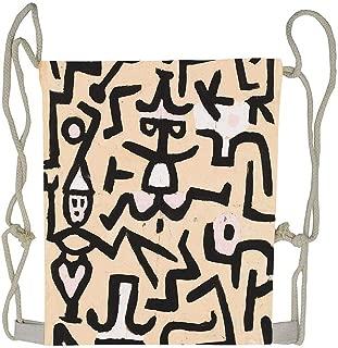 Comedians Handbill Paul Klee 1938 Drawstring Backpack for Travel Beach,Shopping,Sports,School,Women Men Girls Gym Bags Makeup Bag