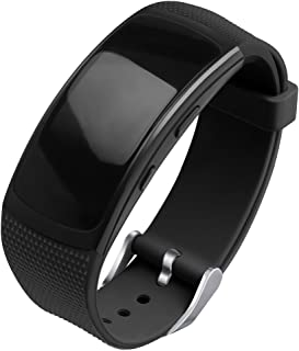 OenFoto Compatible Gear Fit2 Pro/Fit2 Band, Replacement Silicone Accessories Strap Samsung Gear Fit2 Pro SM-R365/Gear Fit2 SM-R360 Smartwatch- Black