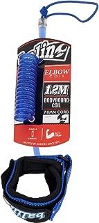 Balin Elbow Coil 1.2M Bodyboard Leash/Strap Blue - Neoprene Wrist Strap - 7.0mm Cord - 1.2m Length