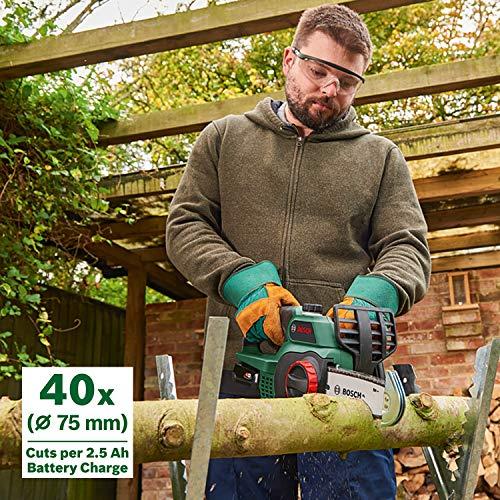 Bosch Home and Garden 3 600 HB8 000, 135 mm 96 dB UniversalChain 18 Cordless Chainsaw