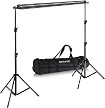 Neewer Triple Background Backdrop Support System with Carrying Case - Maximum 10x10 feet/3x3 meters(Height x Width) for Photography Muslin, Paper and Canvas Backdrop for Photo Video Studio Shooting