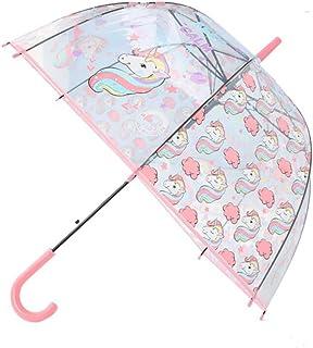 Unicorn Transparent Stick Kids Umbrella (Pink)