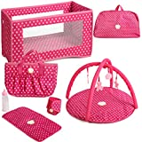 Glam Pool Playset with 11.5 Inch Beach Doll,...