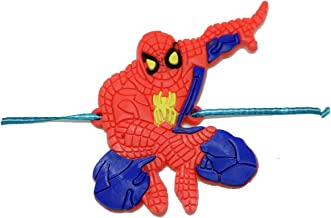 MEENAZ Multicolour Rubber Spiderman Rakhi for Kids