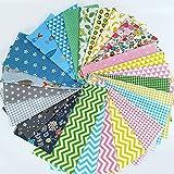 Tela Algodon Telas Patchwork,25 Piezas Tela de algodón patchwork Telas decorativas DIY floral telas patchwork material,para Coser DIY Manualidades 25x25cm