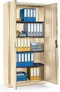 CP Armoire métallique à portes battantes, h x l x p 1980 x 1000 x 420 mm ivoire clair - Armoire Armoire métallique Armoire...