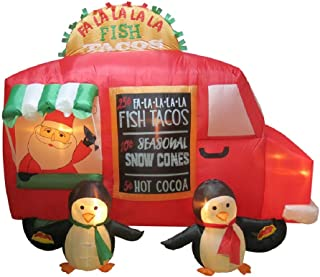 Holiday Living 6-ft x 7.71-ft Lighted Fish Taco Truck Christmas Inflatable
