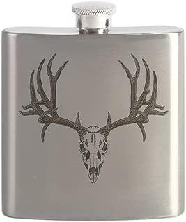CafePress - European Mount Mule Deer - Stainless Steel Flask, 6oz Drinking Flask
