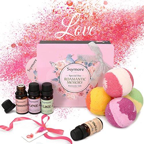 Brifuture_DE Skymore badebomben geschenk set geschenk für erntedankfest weihnachten natürliche badekugeln für hautpflege und entspannung geschenkset für sie