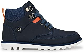DC - Boys Blue Leather Boots