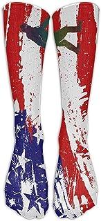 ulxjll, Calf Sock Bandera Americana Bigfoot Impreso Arte Compresión Clásica Niños Niñas Medias Transpirables Hasta La Rodilla Calcetines Largos Viaje Personalizado Divertido 50Cm