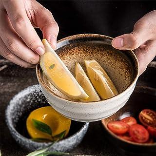 LXX-ボウル 日本の家庭用セラミック食器スープスープボウルライスボウルデザートボウル (Color : B)