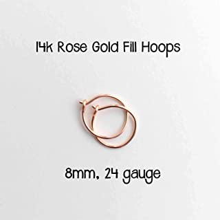 dainty nose hoop