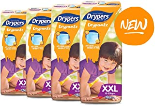 Drypers Drypantz Diapers, XXL, 28 Count, (4 packs)