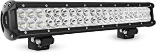 LED Light Bar Nilight 20 Inch 126w LED Work Light Spot Flood Combo Led Bar Off Road Lights Driving Lights Led Fog Light Jeep Lights Boat Lighting, 2 Years Warranty
