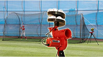 Slider Curve Lite-Ball Pitching Machine & Xtender 24 Batting Cage Combo
