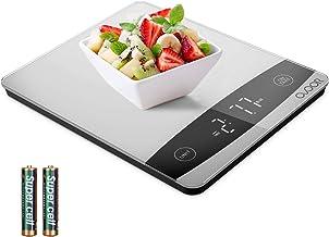 OVOOR Balance Cuisine Balance Alimentaire Multifonction - Electronique Balance de Précision 10 kg Surface en Verre Trempé ...