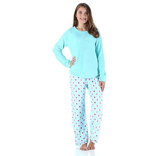PajamaMania Women s Sleepwear Fleece Long Sleeve Pajamas PJ Set f76f3785f