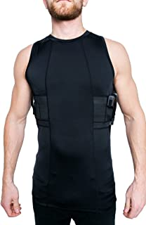 Graystone Gun Holster Tank Top Shirt Concealed Carry Clothing for Men - Easy Reach Gun Concealment Sleeveless Top Tank Tactical Compression CCW Shirt