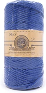 Micv Macrame Cord 4mm x 328ft Royal Blue Cotton Rope for Handwork Wall Hanging Plant Hanger, Dream Catchers,DIY Tapestry