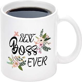 WTOMUG Best Boss Ever Mug Coffee Mug for Boss Best Boss Gifts Boss Coffee Mug Elephant Christmas Birthday Gifts for Boss 11Oz