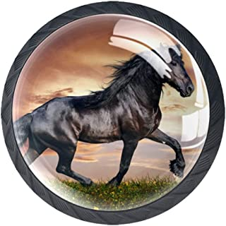 4 pomos para armario de clase de caballos de estilo árabe de 35 mm forma de círculo cajones de cocina aparador armar...