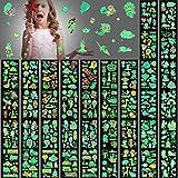 600 Pieces Glow In The Dark Temporary Tattoos for Kids Waterproof Luminous Tattoo Sticker Glow Mixed Style Cartoon Tattoo Unicorn Dinosaur Mermaid Animal Fake Tattoo Stickers Party Supplies 40 Sheets